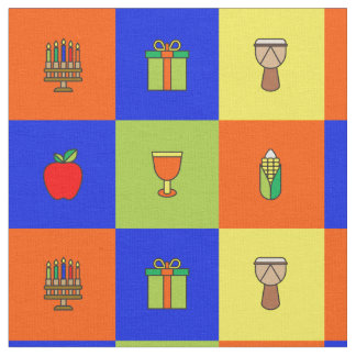 kwanzaa colorblock fabric