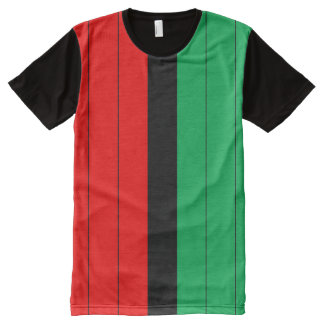 Kwanzaa Colors Red Black Green Stripes Pattern