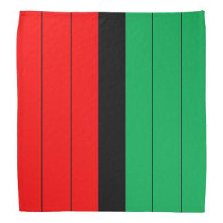 Kwanzaa Colors Red Black Green Stripes Pattern Bandana