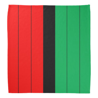 Kwanzaa Colors Red Black Green Stripes Pattern Bandanna