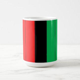 Kwanzaa Colors Red Black Green Stripes Pattern Coffee Mug