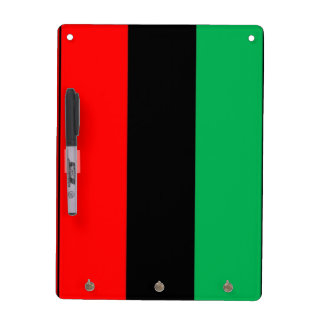 Kwanzaa Colors Red Black Green Stripes Pattern Dry Erase Board