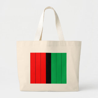 Kwanzaa Colors Red Black Green Stripes Pattern Large Tote Bag