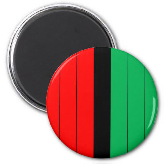 Kwanzaa Colors Red Black Green Stripes Pattern Magnet