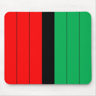 Kwanzaa Colors Red Black Green Stripes Pattern Mouse Pad