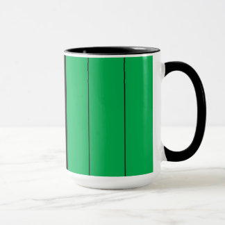Kwanzaa Colors Red Black Green Stripes Pattern Mug