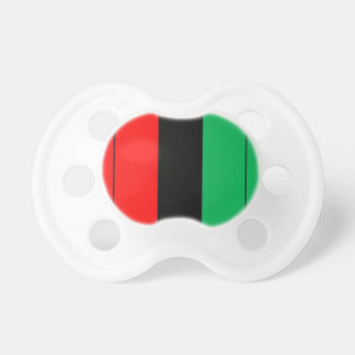 Kwanzaa Colors Red Black Green Stripes Pattern Pacifier