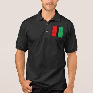 Kwanzaa Colors Red Black Green Stripes Pattern Polo Shirt
