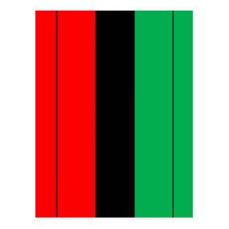 Kwanzaa Colors Red Black Green Stripes Pattern Postcard