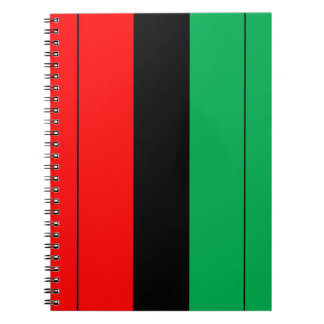 Kwanzaa Colors Red Black Green Stripes Pattern Spiral Notebook