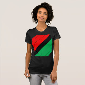 Kwanzaa Colors Red Black Green Stripes Pattern T-Shirt
