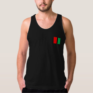 Kwanzaa Colors Red Black Green Stripes Pattern Tank Top