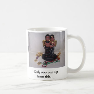 kwanzaa couple, Only you can sip from this.... Classic White Coffee Mug