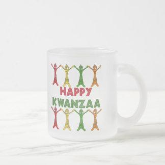 Kwanzaa Dancers 10 Oz Frosted Glass Coffee Mug