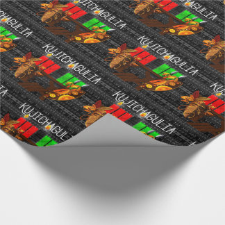 Kwanzaa Day 2 Kujichagulia Kinara Determination Wrapping Paper
