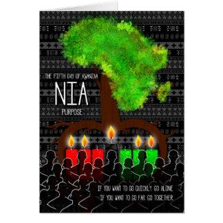 Kwanzaa Day 5 Nia Purpose Africa Tree Shape Card