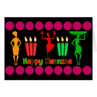 Kwanzaa design colorful and joyful with swirls card