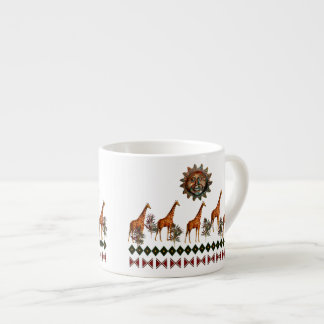 Kwanzaa Giraffes Espresso Mug