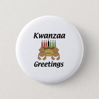 Kwanzaa Greetings 2 Inch Round Button