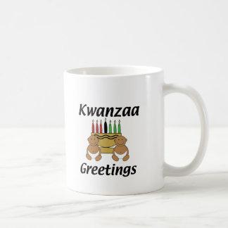 Kwanzaa Greetings Classic White Coffee Mug