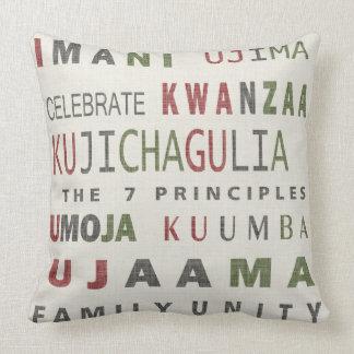 Kwanzaa Home Decor 7 Priciples Word Pillow