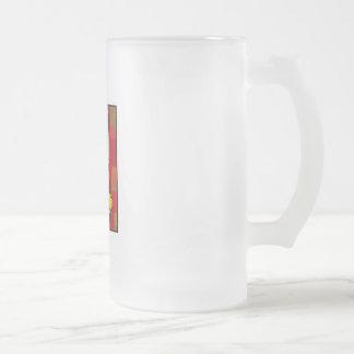 Kwanzaa Mkeka Frosted Glass Mug