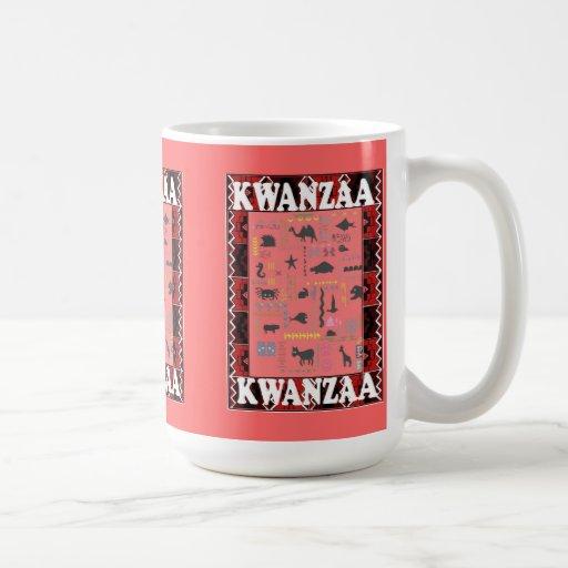 Kwanzaa mug , Africa creatures