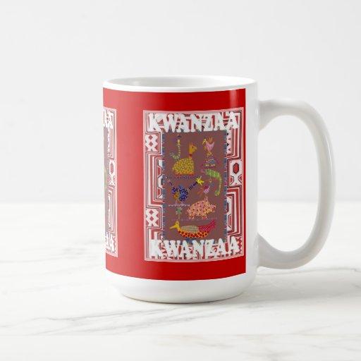 Kwanzaa mug ,African animals