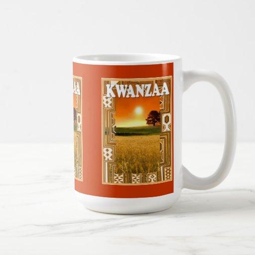 Kwanzaa mug , African sunset 1