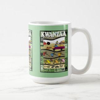Kwanzaa mug, farming basic white mug