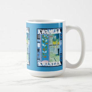 Kwanzaa mug , floral design