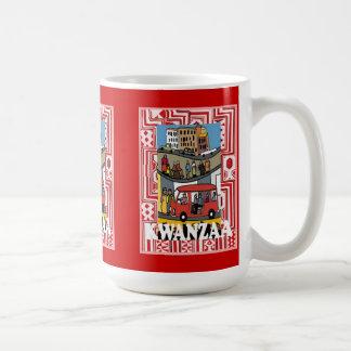 Kwanzaa mug, In town