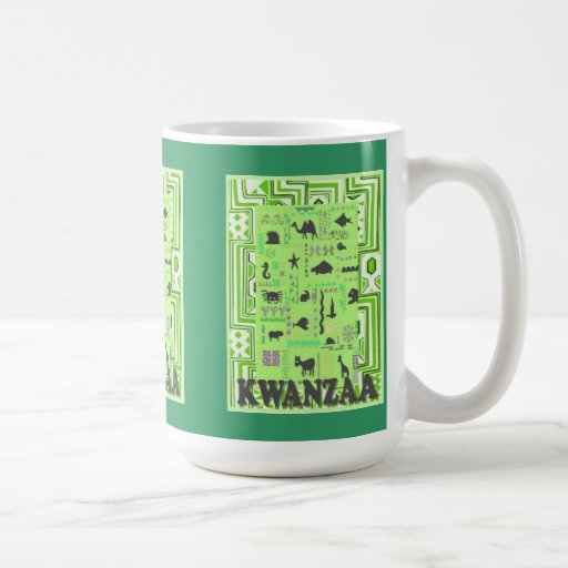 Kwanzaa mug , Meet the animals