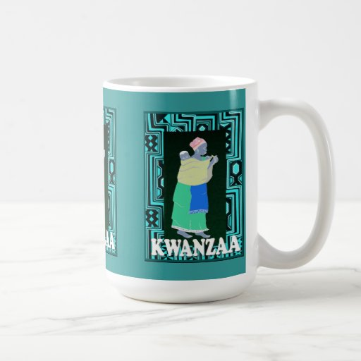 Kwanzaa mug , Mother and child