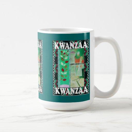 Kwanzaa mug , traditional artwork