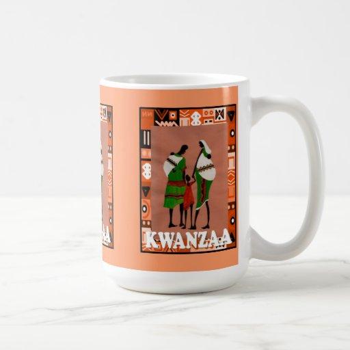 Kwanzaa mug , Tribal family