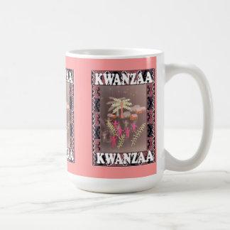 Kwanzaa mug , under the palm trees