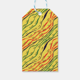 Kwanzaa Patterns Gift Tags