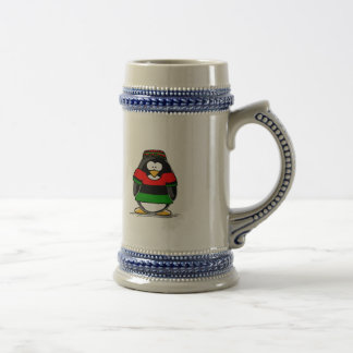 Kwanzaa Penguin 18 Oz Beer Stein