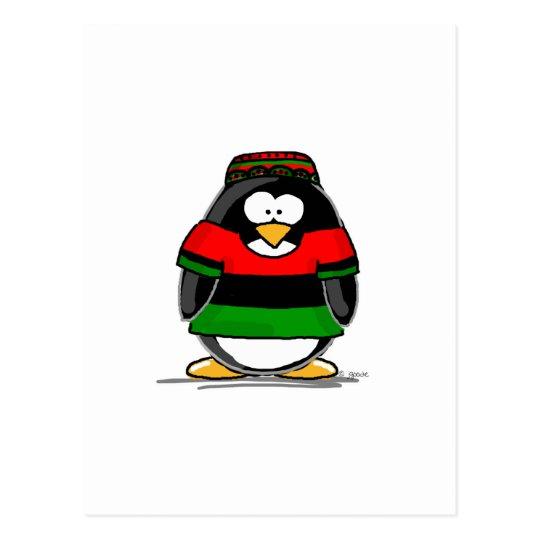 Kwanzaa Penguin Postcard