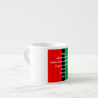 Kwanzaa Principles Red Black Green Stripes Pattern Espresso Cup
