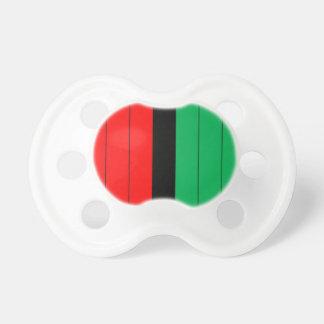 Kwanzaa Red Black Green Kinara Striped Pattern Pacifier