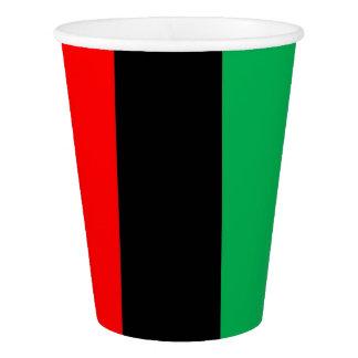 Kwanzaa Red Black Green Kinara Striped Pattern Paper Cup