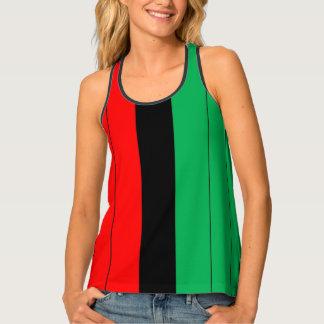 Kwanzaa Red Black Green Kinara Striped Pattern Tank Top