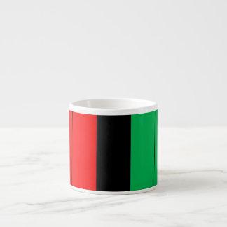 Kwanzaa Red Black Green Kinara Stripes Pattern Espresso Cup