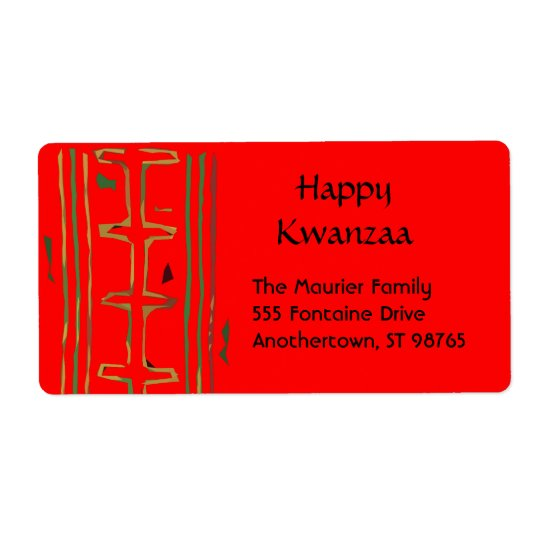 Kwanzaa Return Address Labels