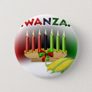 Kwanzaa Sign 2 Inch Round Button
