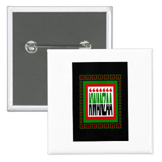 Kwanzaa Split With 7 Flames & Decorated Frame Buttons