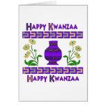 Kwanzaa Vase Greeting Card
