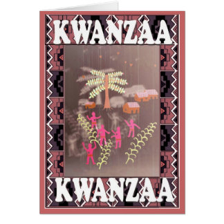 Kwanzaa ,village life card
